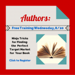 How to find the perfect target market for your book–Free training tonight