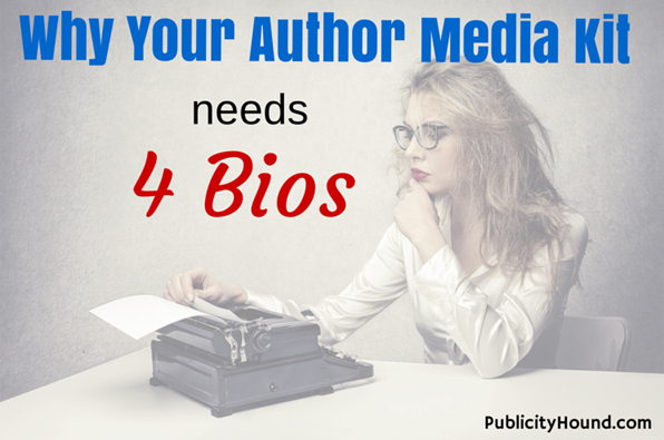 Why Your Author Media Kit Needs 4 Bios