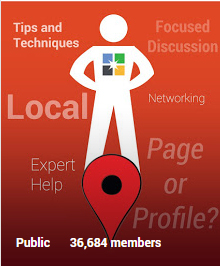 Google Plus for Small Business badge