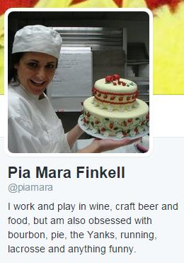 Pia Mara Finkell's Twitter bio