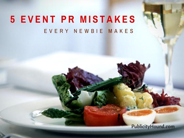 5 Event PR Mistakes
