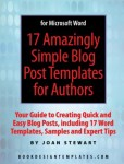 Deadline tonight for discount on Blog Templates for Authors