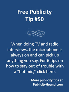 Publicity Top #50--How to avoid a hot mic