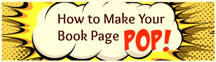 How to make your author book page pop