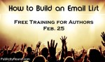 Authors: Free Training on Email List-building Feb. 25