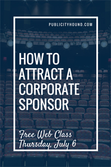 attract a corporate sponsor