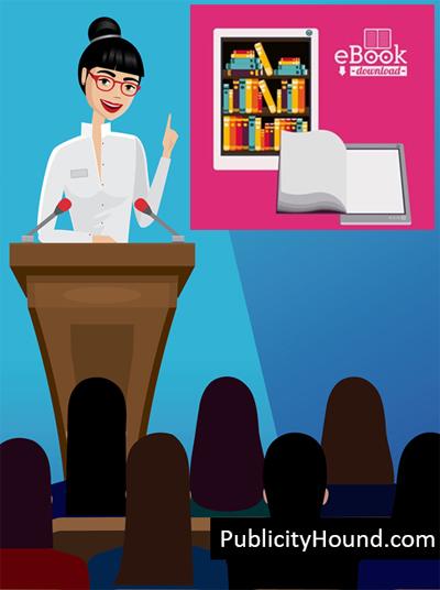 Paid speaker at podium